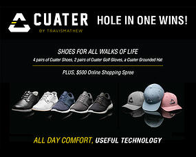 Cuater by TravisMathew hole in one wins sign