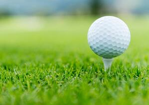 Close-up of a ball at the golf course