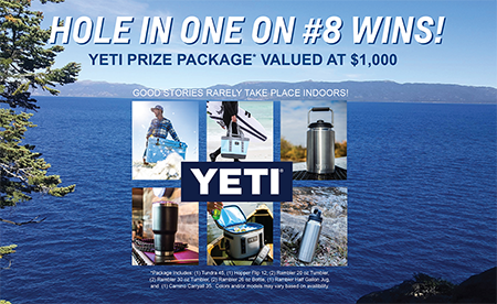 Yeti bonus prize package